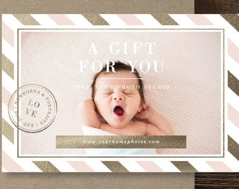 Photographer gift certificate template photography gift card photography templates photography gift card template photography branding photoshop marketing templates yelopaper Image collections