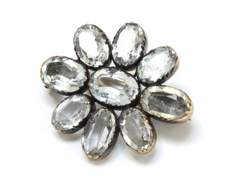 Victorian 14K Rock Crystal Pin