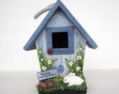 Bunny Crossing Mini Birdhouse