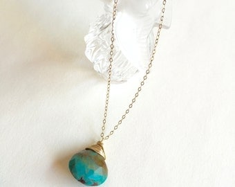 Turquoise Gold Necklace / Gaia Necklace