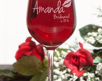 Custom Wine Glasses, Bridesmaid Glass, Will you be my Bridesmaid, Personalized Bridesmaid Glass, Stemless Wine Glasses, Bridal Shower Favors