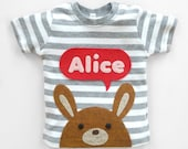 Personalized Baby Bunny T-shirt, Baby Shower Gift
