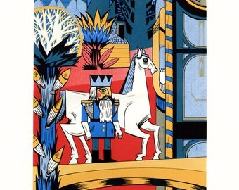 "Silkscreen, ""The Nutcracker"", Original Screenprinted Art, Hand-printed, Limited Edition"