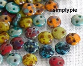 Lentil Picasso Mix CzechMates 6mm 50 Two Hole Czech Glass Beads
