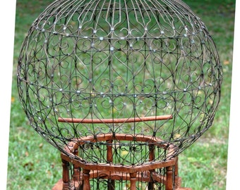 Large Round Dome Victorian style Vintage Birdcage Collectable Whimsy Cottage Chic