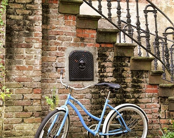 Savannah Georgia Art, Bicycle Photograph, Architecture Photography, Fine Art Print, Home Decor, Wall Art, Travel Print