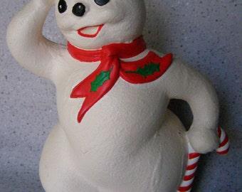 Snowman Ceramic Figurine