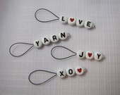 Yarn Love - Four Snagless Stitch Markers - Fits Up To 5 mm (8 US)