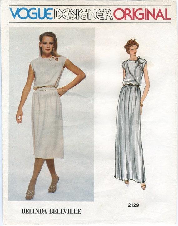 Vogue Blouson Bodice Dress Sewing Pattern 2129 Size 12