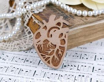 2Pcs Large Handmade Heart Charms / Pendants (LC034)