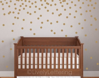 Modern Wall Decals Vinyl Lettering And Car By LivelyLettering - Gold dot wall decals nursery