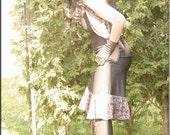 SALE - Skirt - Steampunk - Bohemian - Burning Man - Playa Wear - Pixie - Gypsy Boheme - Fairy Skirt - Black - Sexy - Size Small