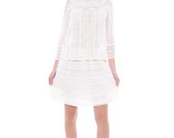 Lace Skirt, Summer Skirt, Ivory Skirt, Bridal Skirt, Cotton Lace Skirt, Sexy Lace Skirt, Short Skirt, Swing Skirt, Ladies Skirt