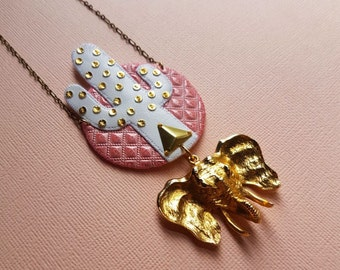 Elephant Cactus Necklace