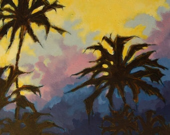 Palm Trees Acrylic on Canvas Original Painting
