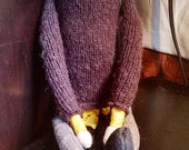 Bearded Fabric Hipster Boy Doll in Sweater