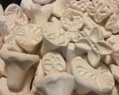 Ceramic Butterfly Stamps - An assortment of 5 Stamps - Bisque clay texture STAMPS for CLAY, pmc, fimo, and more!