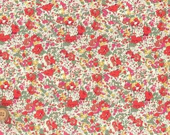 Liberty Tana Lawn Fabric, Liberty of London, Liberty Japan, Claire-Aude, Cotton Print Scrap,  Floral Design, Quilt, Patchwork, kt2022w