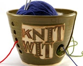 Knit Wit - Really Big Yarn Bowl for Chicks with Sticks - Ready to Ship