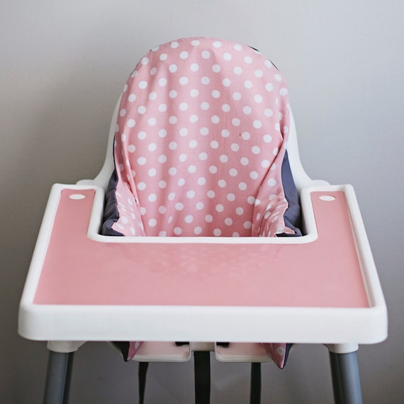 pink polkadot ikea antilop highchair cover high chair. Black Bedroom Furniture Sets. Home Design Ideas