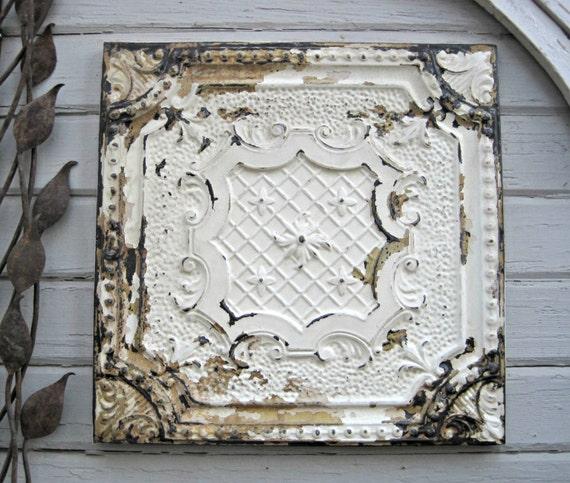 Antique Pressed Tin 2 X2 Framed Tin Ceiling Tile