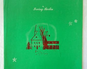 Sheet Music, White Christmas Irving Berlin, Classic 40s Nostalgia Holiday Tune, Copyright 1942