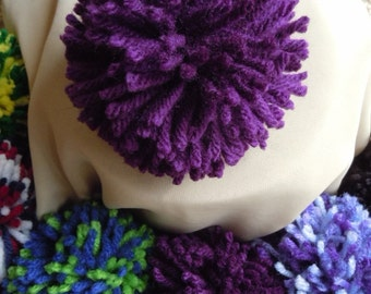 Party Supplies, Party Decoration, Pom Pom, Violet Purple Pom Pom, Purple Pom Pom, Yarn Ball, Purple Ball, Accessory Ball