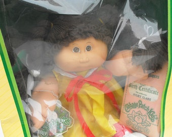 1984 Cabbage Patch Kids Doll Vintage Coleco CPK Xavier Roberts Retro 80s NIB Nostalgia Nursery Decor Adoption Juliet Clare Little Girls Gift