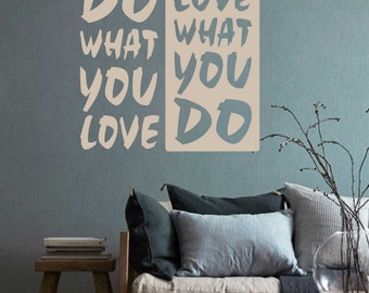 do what you love motivational quote vinyl wall lettering vinyl wall decals vinyl letters vinyl lettering wall quotes office decal