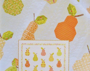 CANNED PEARS Quilt Pattern - Throw Quilt Pattern - Fig Tree Quilts Pattern - Joanna Figueroa - Pear Quilt - Fig Tree & Co.