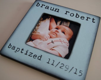 Personalized Baptism Frame For Boy or Girl - Gift For Godchild