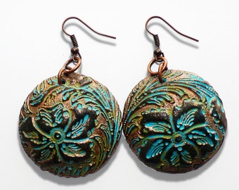Yesterday is gone polymer clay earrings