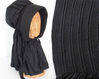 Gothic Bonnet * Antique 1850s Bonnet * Quilted Sun Bonnet * Victorian Hat