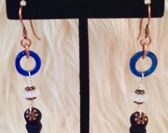 Women's Drop & Dangle Earrings,Hunger Games Earrings Women's Blue Earrings,Mocking Bird Earrings,Arrowhead Earrings,Healing Jewelry, Gift