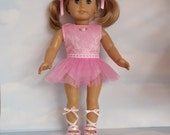 18 inch doll clothes - Pink Ballet Costume handmade to fit the American Girl doll