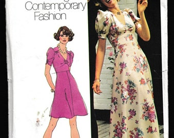 Simplicity 6034 Young Contemporary Fashion Misses Gathered Bodice Flared Skirt