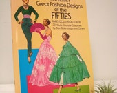 Fifties Fashion Illustrations Tom Tierney Dover Book 1950s Uncut Vintage 1985