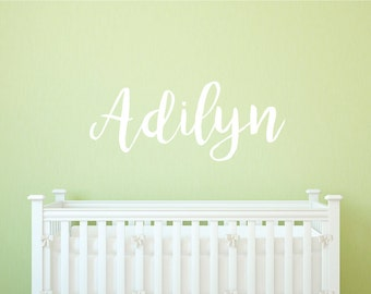 Nursery Wall Decal - Personalized Name Wall Decal - Baby Room Name Wall Decal - Nursery Name Wall Decal - Kids wall decals