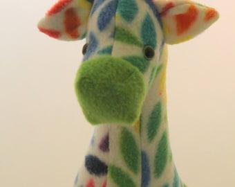 Colorful Green Giraffe Plush Toy