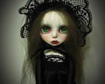 Handmade Collectible Unique -OOAK- Clay poseable  Art doll- Isabelle