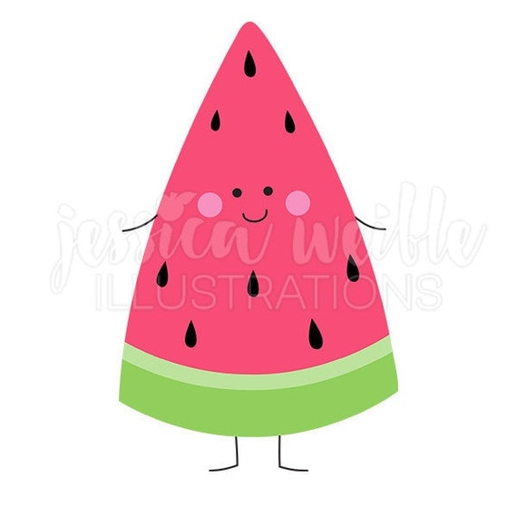 Happy Watermelon Cute Digital Clipart Watermelon Clip art