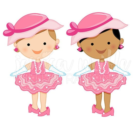 Clip Art for Little Girls Party Dresses