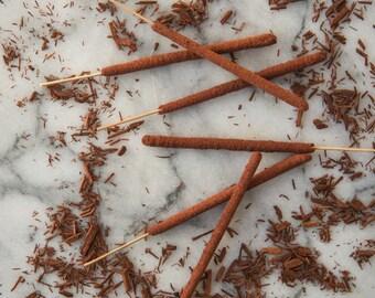Red Sandalwood - All Natural Hand Rolled Incense Sticks - Bag of 6 or 12