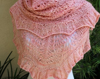 Pattern Only Golly Molly Crescent Shaped Lace Shawl