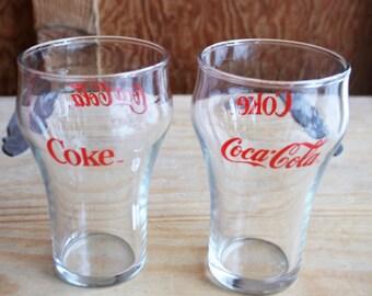 Pair of Vintage Coca Cola Glasses