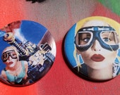Your Choice Lori Petty Tank Girl movie fan pin badge pinback button hand pressed 2-1/4 inch pin pingame strong punk rock