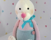 Merryweather the Baby Rabbit.  Crochet Amigurumi Animal Bunny