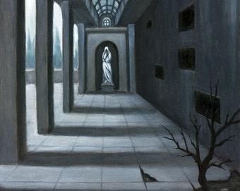 Necropolis IV - Oil painting