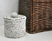 Oatmeal Toilet Tissue Basket Bathroom Decoration Spare Roll Holder Rustic Home Decor Custom Colors