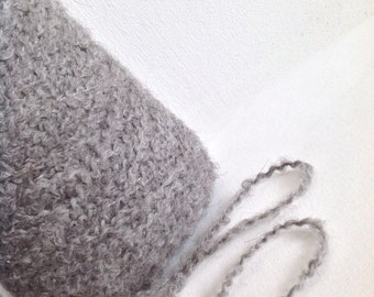 ALPACA and ORGANIC WOOL Boucle yarn grey